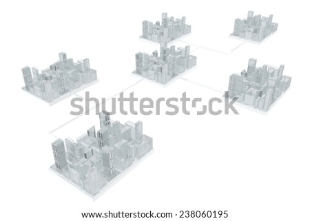 Future communication between cities - stock photo
