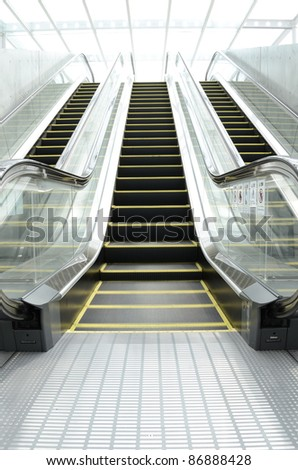 Future escalator - stock photo