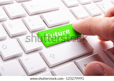 future key or keyboard showing forecast or investment concept - stock photo