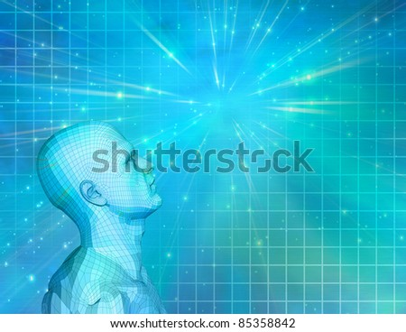 Future Man - stock photo