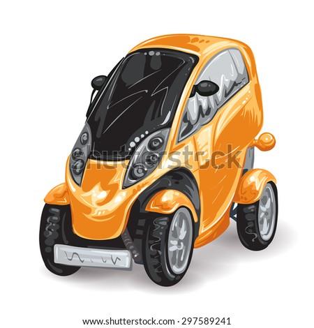 Future mini car - stock photo