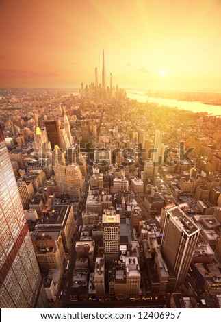 Future new york - stock photo
