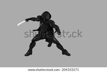 Future ninja - stock photo