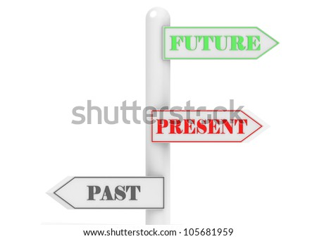 Future Past Present - stock photo