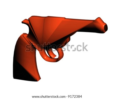 Future pistol without any brand for your use - stock photo