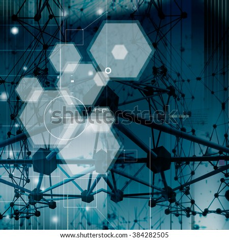 future research background - stock photo