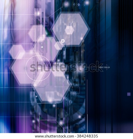 future technology background - stock photo