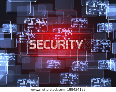 Future technology red touchscreen interface. Security screen concept - stock photo