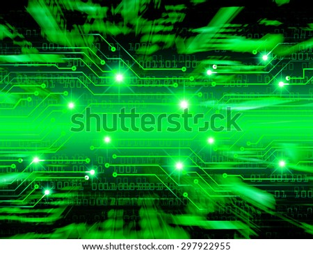 future technology, security concept background. dark green Light Technology background for computer graphic website internet business. circuit. ray. one zero. motion move blur. infogrphics