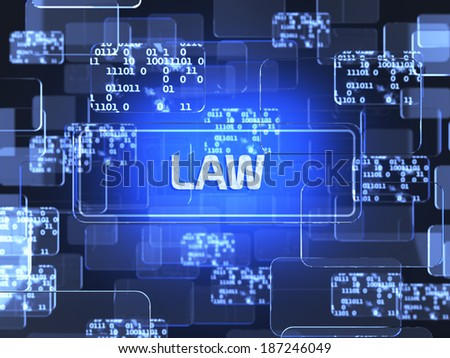 Future technology touchscreen interface. Law screen concept - stock photo