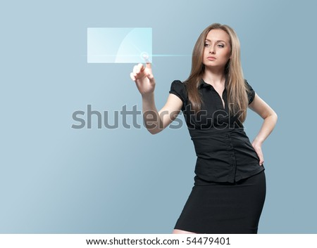 Future touch interface - Tech collection - stock photo