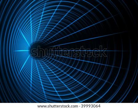 Future tunnel - stock photo