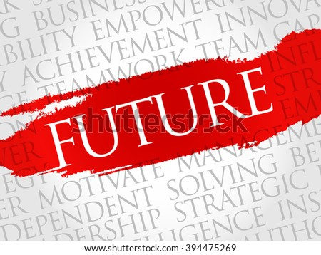 Future word cloud, business concept