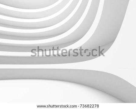 Futuristic Abstract Architecture Background - stock photo