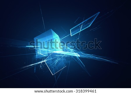 Futuristic abstract background - stock photo