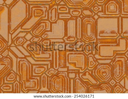 futuristic abstract backgrounds. digital metal rusty texture - stock photo