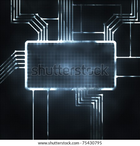futuristic abstract illustration of the screen and chipset