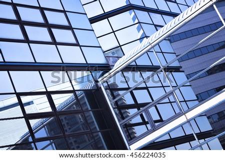 futuristic architecture backgroud - stock photo