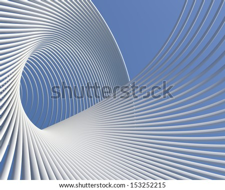 Futuristic architecture background. Elegant modern curves geometric wallpaper - stock photo