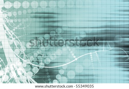 Futuristic Background in Web Tech Glowing Lines
