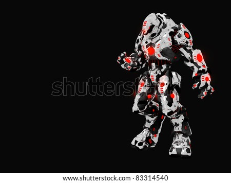 Futuristic battle robot - stock photo