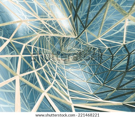 Futuristic building construction. Abstract background. - stock photo