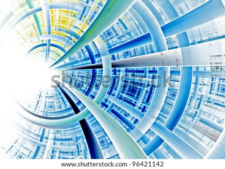 futuristic circular background texture - stock photo