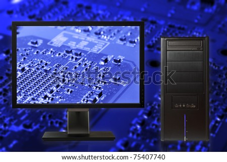 Futuristic computer - stock photo