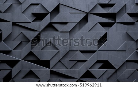 Futuristic Creative Dark Background (3D illustration)
