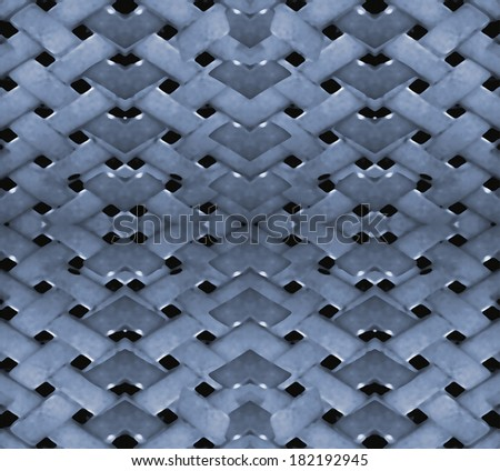 Futuristic geometric abstract patten in blue tones in black background.