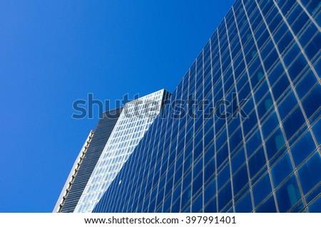 Futuristic Glass Facade - stock photo