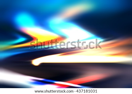 Futuristic gradient light motion background