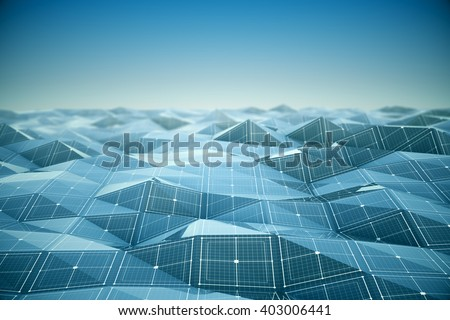 Futuristic grid and line background. 3d Rendering.