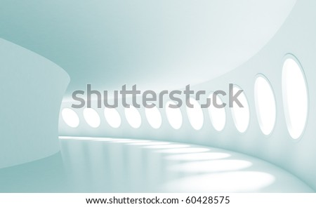 Futuristic Hall - stock photo