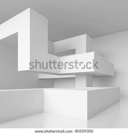 Futuristic Hall Background - stock photo