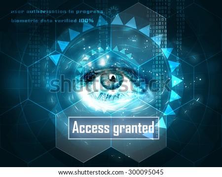 futuristic human eye - stock photo