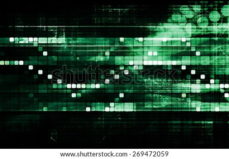 Futuristic Interface Business Graph and Chart Art - stock photo