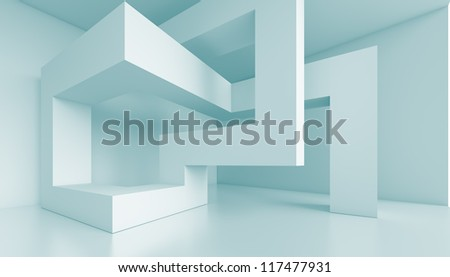 Futuristic Interior Background - stock photo