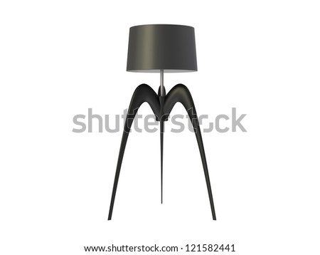 Futuristic Lamp isolated on a white background - stock photo
