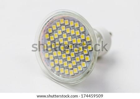 futuristic led lightbulb lamp - stock photo