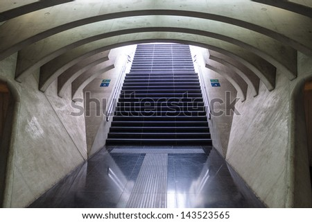 Futuristic Liege-Guillemins railway station - stock photo