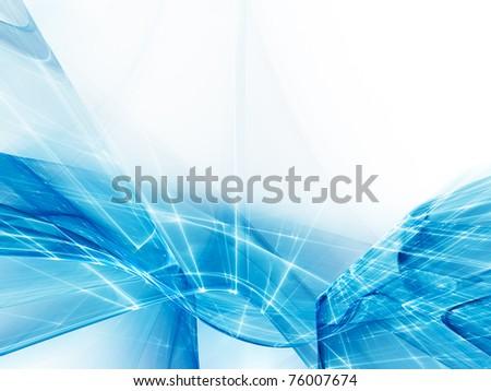 Futuristic light blue background element - stock photo