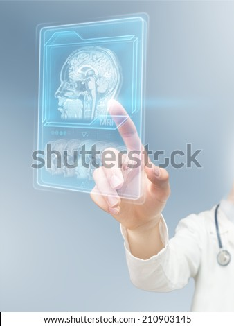 Futuristic MRI scan - stock photo