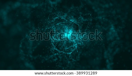 Futuristic Particles Space Abstract Background - stock photo