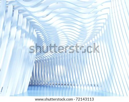 Futuristic passage - stock photo