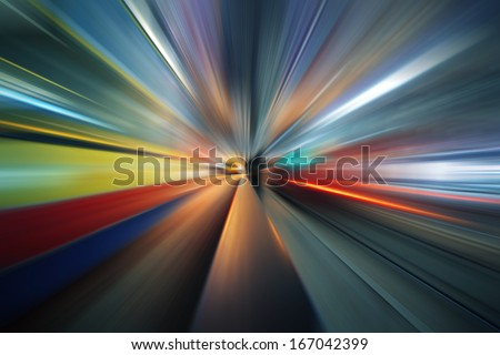 Futuristic radial blur background perspective - stock photo