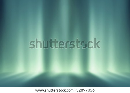Futuristic room, ideal background for figure - stock photo