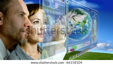 Futuristic Screen - stock photo