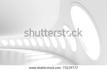 Futuristic Space Station - stock photo