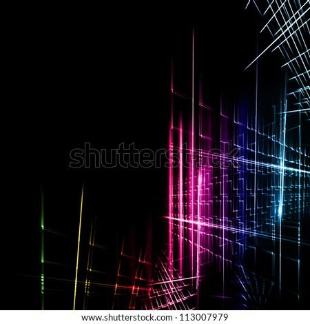futuristic technology background design - stock photo